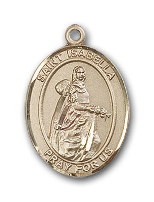 14K Gold Saint Isabella of Portugal Pendant