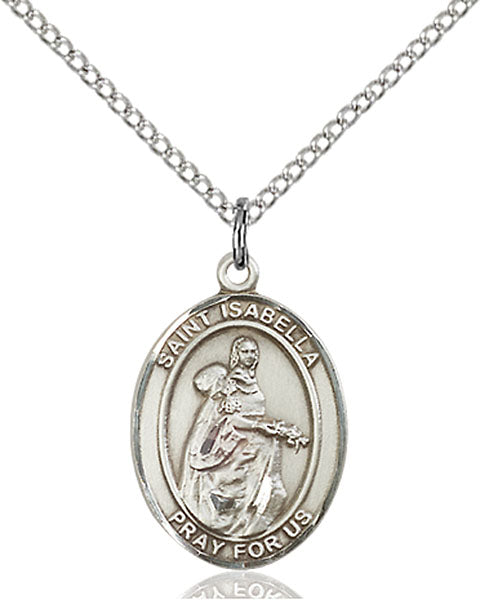 Sterling Silver Saint Isabella of Portugal Necklace Set