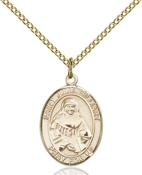 Gold-Filled Saint Julia Billiart Necklace Set