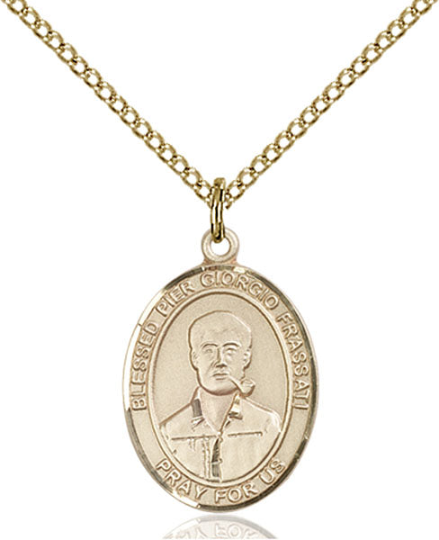 Gold-Filled Blessed Pier Giorgio Frassati Necklace Set