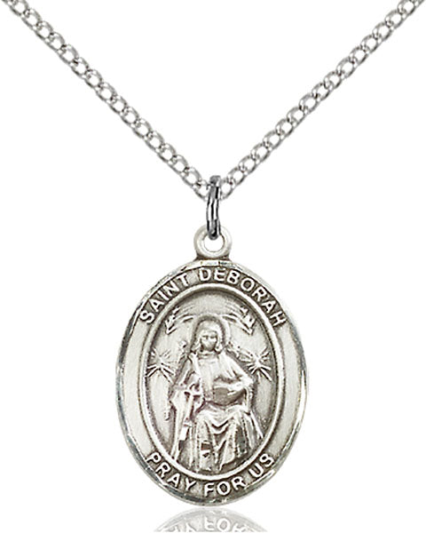 Sterling Silver Saint Deborah Necklace Set