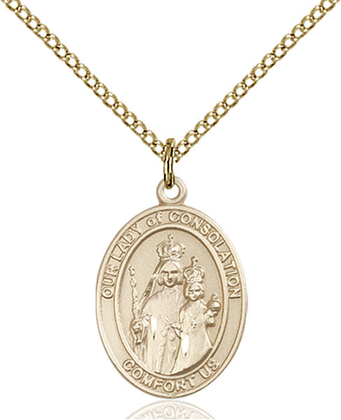Gold-Filled Our Lady of Consolation Necklace Set