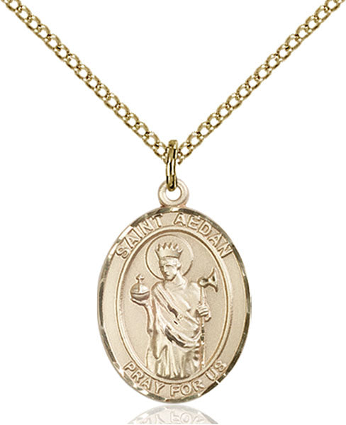 Gold-Filled Saint Aedan of Ferns Necklace Set
