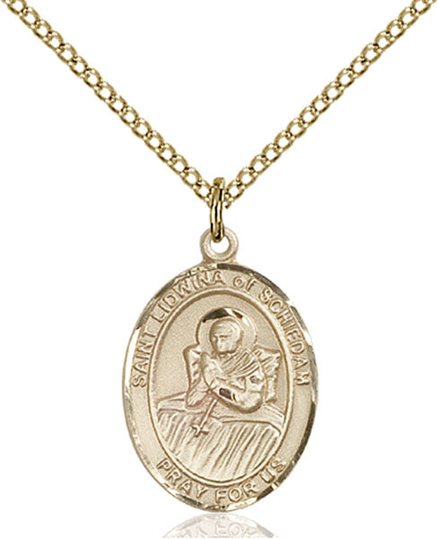 Gold-Filled Saint Lidwina of Schiedam Necklace Set