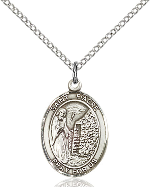 Sterling Silver Saint Fiacre Necklace Set