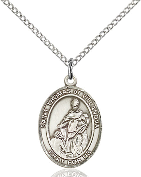 Sterling Silver Saint Thomas of Villanova Necklace Set