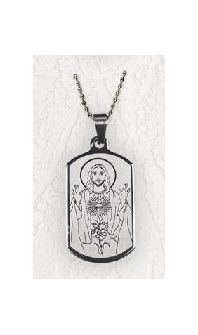 Sacred Heart Dog Tag