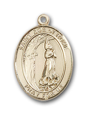 14K Gold Saint Zoe of Rome Pendant