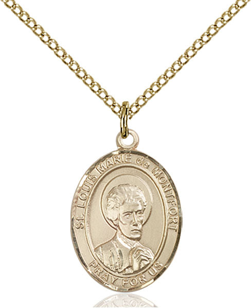 Gold-Filled Saint Louis Marie De Montfort Necklace Set