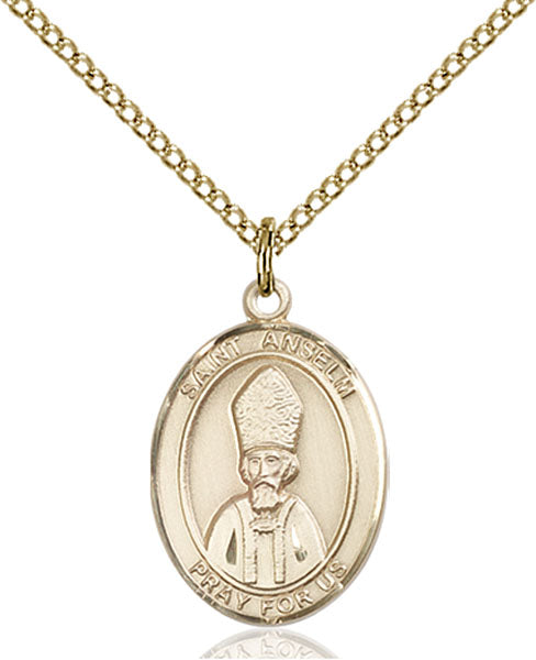 Gold-Filled Saint Anselm of Canterbury Necklace Set