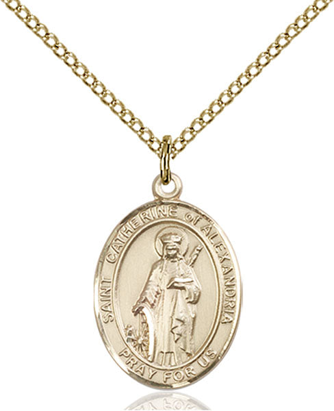 Gold-Filled Saint Catherine of Alexandria Necklace Set