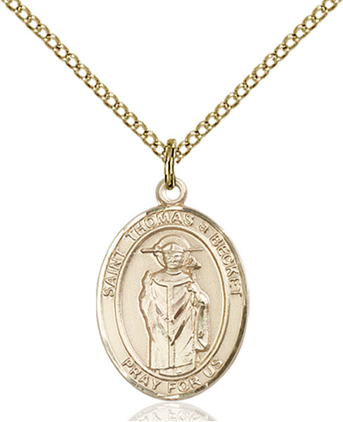 Gold-Filled Saint Thomas A Becket Necklace Set