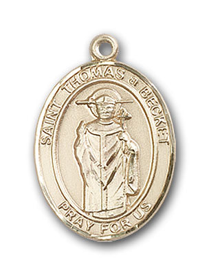 14K Gold Saint Thomas A Becket Pendant