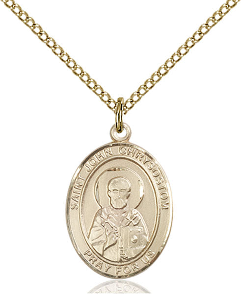 Gold-Filled Saint John Chrysostom Necklace Set