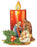 Christmas Candle/Nativity Standing/Hanging Plaque