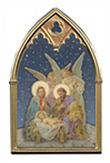 Christmas Blessing Arch Plaque With Two Angels