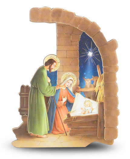 3X4-inch Arched Nativity Plaque