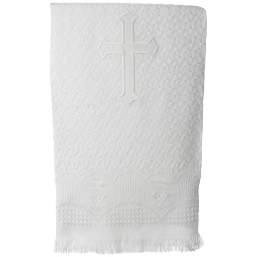 Baptism Acrylic blanket with embroidered cross