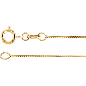 24-inch Box Chain with Spring Ring - 18K Yellow