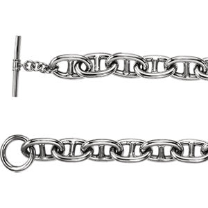 8-inch Link Chain with Toggle Clasp - Sterling Silver