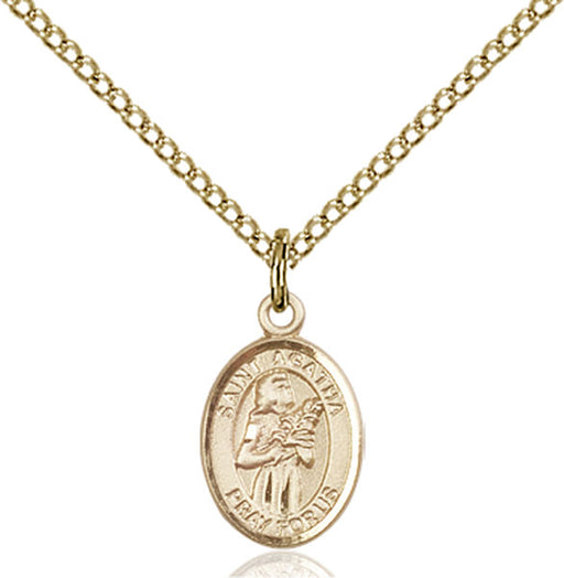 Gold-Filled Saint Agatha Necklace Set