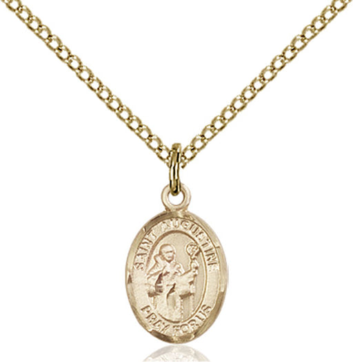 Gold-Filled Saint Augustine Necklace Set