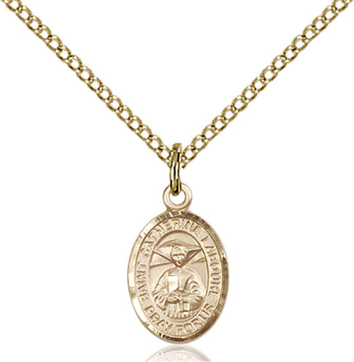 Gold-Filled Saint Catherine Laboure Necklace Set