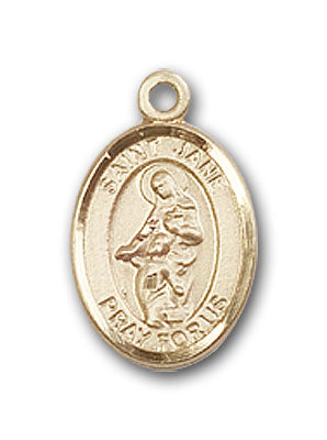 14K Gold Saint Jane of Valois Pendant