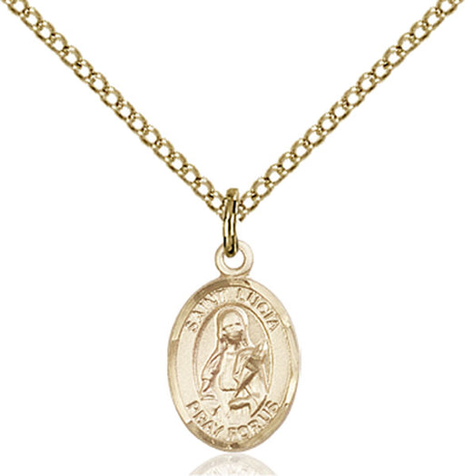 Gold-Filled Saint Lucia of Syracuse Necklace Set