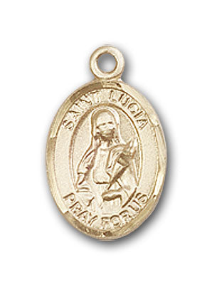 14K Gold Saint Lucia of Syracuse Pendant