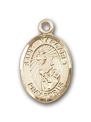14K Gold Saint Margaret Mary Alacoque Pendant
