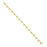 14K Gold-Dipped Fancy Cross Bracelet