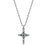 Silver-Tone Imitation Marcasite Cross Pendant Necklace