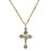 14K Gold-Dipped and Silver-Tone Triple Casted Crucifix Pendant Necklace