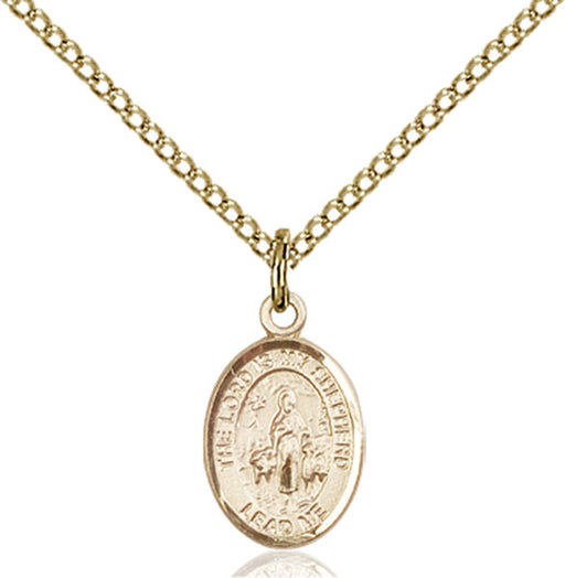 Gold-Filled Lord Is My Shepherd Necklace Set