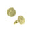 14K Gold-Dipped Saint Francis of Assisi Round Cuff Links