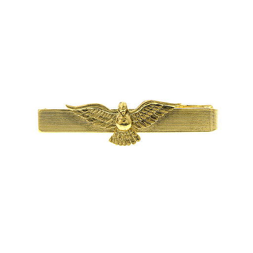 14K Gold-Dipped Dove Tie Bar Clip