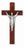 11-inch Dark Cherry Cross with Silver Corpus