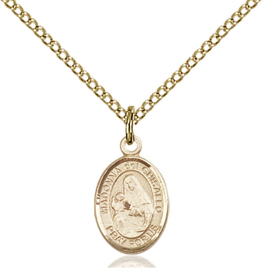 Gold-Filled Saint Madonna Del Ghisallo Necklace Set