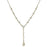 Silver-Tone Cross Chain Y-Necklace