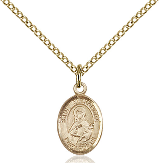 Gold-Filled Saint Alexandra Necklace Set