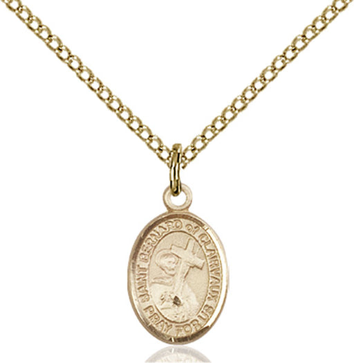 Gold-Filled Saint Bernard of Clairvaux Necklace Set