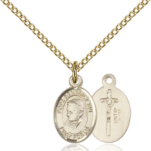 Gold-Filled Pope Benedict XVI Necklace Set