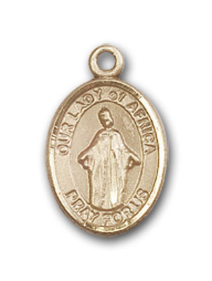14K Gold OUR LADY of Africa Pendant