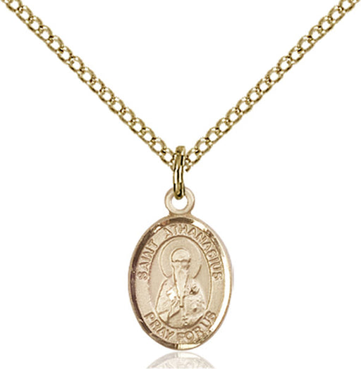 Gold-Filled Saint Athanasius Necklace Set