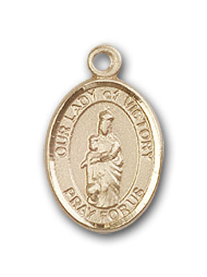 14K Gold OUR LADY of Victory Pendant
