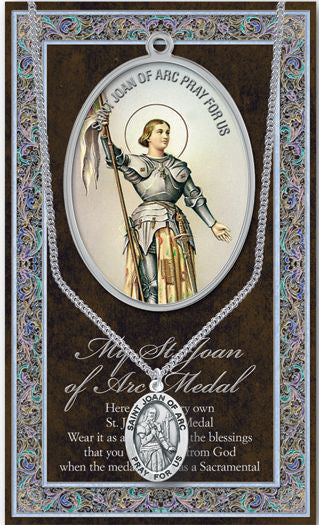 Saint Joan Of Arc Medal Pict Folder With Medal On Chain