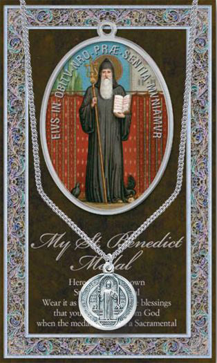 St Benedict Picture Folder With Medal And Chain
