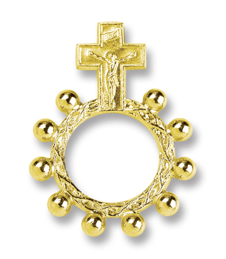 Gold Color Rosary Ring 25-Pack