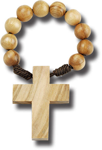 Wood Rosary Ring 25-Pack